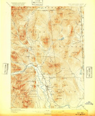 North Conway, New Hampshire 1896 (1920) USGS Old Topo Map Reprint 15x15 ME Quad 330272