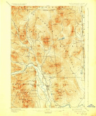 North Conway, New Hampshire 1896 (1927) USGS Old Topo Map Reprint 15x15 ME Quad 330273