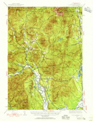 North Conway, New Hampshire 1942 (1956) USGS Old Topo Map Reprint 15x15 ME Quad 330262