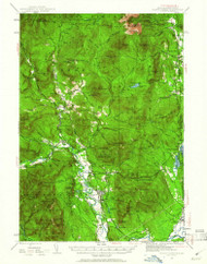 North Conway, New Hampshire 1942 (1961) USGS Old Topo Map Reprint 15x15 ME Quad 330261