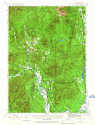 North Conway, New Hampshire 1942 (1966) USGS Old Topo Map Reprint 15x15 ME Quad 330260
