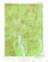 North Conway, New Hampshire 1942 (1971) USGS Old Topo Map Reprint 15x15 ME Quad 330259
