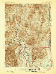 North Conway, New Hampshire 1945 (1945) USGS Old Topo Map Reprint 15x15 ME Quad 330264