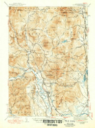 North Conway, New Hampshire 1945 (1950) USGS Old Topo Map Reprint 15x15 ME Quad 330265