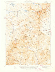 Old Speck Mountain, Maine 1945 (1945) USGS Old Topo Map Reprint 15x15 ME Quad 460695