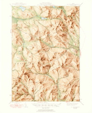 Old Speck Mountain, Maine 1945 (1950) USGS Old Topo Map Reprint 15x15 ME Quad 461062