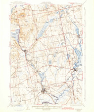 Pittsfield, Maine 1932 (1942) USGS Old Topo Map Reprint 15x15 ME Quad 461063