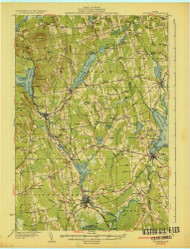 Pittsfield, Maine 1933 (1933) USGS Old Topo Map Reprint 15x15 ME Quad 807624