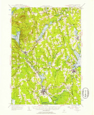 Pittsfield, Maine 1955 (1957) USGS Old Topo Map Reprint 15x15 ME Quad 460753