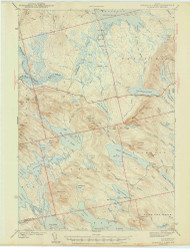 Scraggly Lake, Maine 1944 (1944) USGS Old Topo Map Reprint 15x15 ME Quad 306760