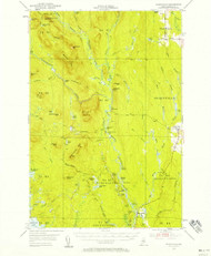 Stacyville, Maine 1953 (1958) USGS Old Topo Map Reprint 15x15 ME Quad 460926