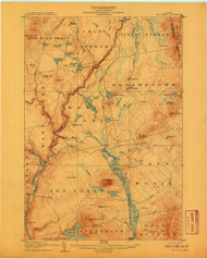 The Forks, Maine 1907 (1907) USGS Old Topo Map Reprint 15x15 ME Quad 807703