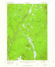 The Forks, Maine 1956 (1963) USGS Old Topo Map Reprint 15x15 ME Quad 460960