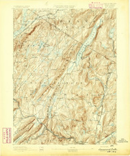 Greenwood Lake, New Jersey April 1893 USGS Old Topo Map 15x15 NJ Quad