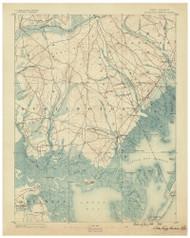 Little Egg Harbor, New Jersey 1888 USGS Old Topo Map 15x15 NJ Quad