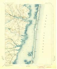 Barnegat, New Jersey 1898 (1924) USGS Old Topo Map 15x15 NJ Quad