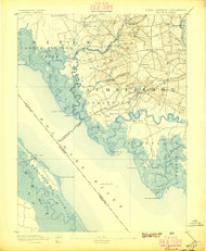 Bay Side, New Jersey 1894 (1896) USGS Old Topo Map 15x15 NJ Quad