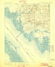 Bay Side, New Jersey 1894 (1902) USGS Old Topo Map 15x15 NJ Quad