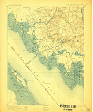 Bay Side, New Jersey 1894 (1907) USGS Old Topo Map 15x15 NJ Quad