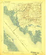 Bay Side, New Jersey 1894 (1921) USGS Old Topo Map 15x15 NJ Quad