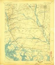 Bridgeton, New Jersey 1894 (1899) USGS Old Topo Map 15x15 NJ Quad