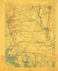 Bridgeton, New Jersey 1894 (1910) USGS Old Topo Map 15x15 NJ Quad