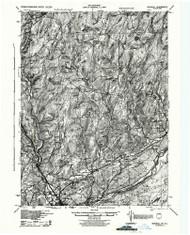 Bushkill, New Jersey 1943 BW USGS Old Topo Map 15x15 NJ Quad