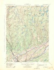 Bushkill, New Jersey 1943 USGS Old Topo Map 15x15 NJ Quad