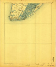 Cape May, New Jersey 1893 (1899) USGS Old Topo Map 15x15 NJ Quad