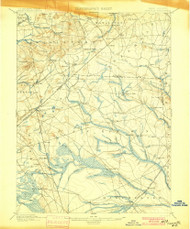 Cassville, New Jersey 1900 USGS Old Topo Map 15x15 NJ Quad