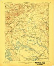 Cassville, New Jersey 1900 (1912) USGS Old Topo Map 15x15 NJ Quad