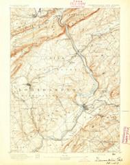 Delaware Watergap, New Jersey 1893 USGS Old Topo Map 15x15 NJ Quad