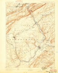 Delaware Watergap, New Jersey 1893 (1899) USGS Old Topo Map 15x15 NJ Quad