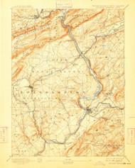 Delaware Watergap, New Jersey 1893 (1909) USGS Old Topo Map 15x15 NJ Quad