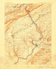 Delaware Watergap, New Jersey 1893 (1913) USGS Old Topo Map 15x15 NJ Quad