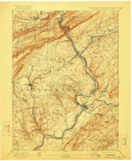 Delaware Watergap, New Jersey 1893 (1922) USGS Old Topo Map 15x15 NJ Quad
