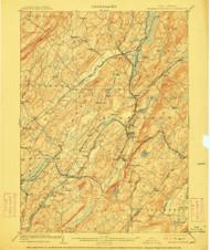 Franklin Furnace, New Jersey 1903 (1911) USGS Old Topo Map 15x15 NJ Quad