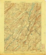 Franklin Furnace, New Jersey 1903 (1920) USGS Old Topo Map 15x15 NJ Quad