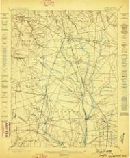 Glassboro, New Jersey 1898 USGS Old Topo Map 15x15 NJ Quad