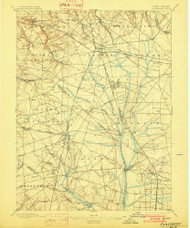 Glassboro, New Jersey 1898 (1902) USGS Old Topo Map 15x15 NJ Quad