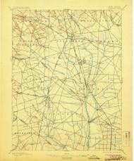 Glassboro, New Jersey 1898 (1906) USGS Old Topo Map 15x15 NJ Quad