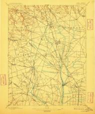 Glassboro, New Jersey 1898 (1910) USGS Old Topo Map 15x15 NJ Quad