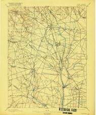 Glassboro, New Jersey 1898 (1916) USGS Old Topo Map 15x15 NJ Quad