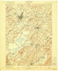 Goshen, New Jersey 1908 (1919) USGS Old Topo Map 15x15 NJ Quad