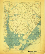 Great Egg Harbor, New Jersey 1893 (1918) USGS Old Topo Map 15x15 NJ Quad