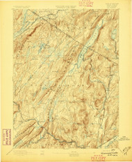 Greenwood Lake, New Jersey May 1893 USGS Old Topo Map 15x15 NJ Quad