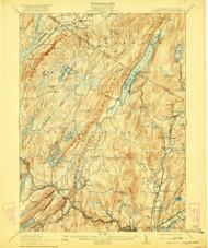 Greenwood Lake, New Jersey 1910 (1922) USGS Old Topo Map 15x15 NJ Quad