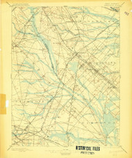 Hammonton, New Jersey 1898 (1903) USGS Old Topo Map 15x15 NJ Quad