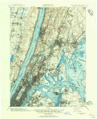 Harlem, New Jersey 1897 (1956) USGS Old Topo Map 15x15 NJ Quad