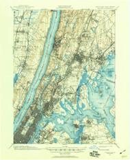 Harlem, New Jersey 1897 (1960) USGS Old Topo Map 15x15 NJ Quad